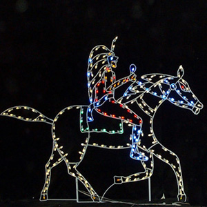 horse - Christmas Horse Yard Decorations