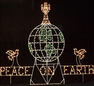 small peace on earth - Peace Outdoor Christmas Decorations