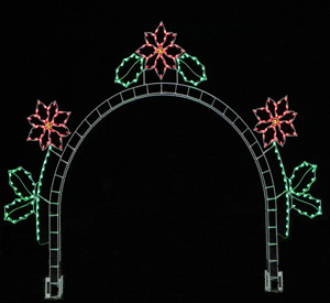 Poinsettia Arch Christmas Decoration